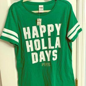 VS Pink Holiday Shirt